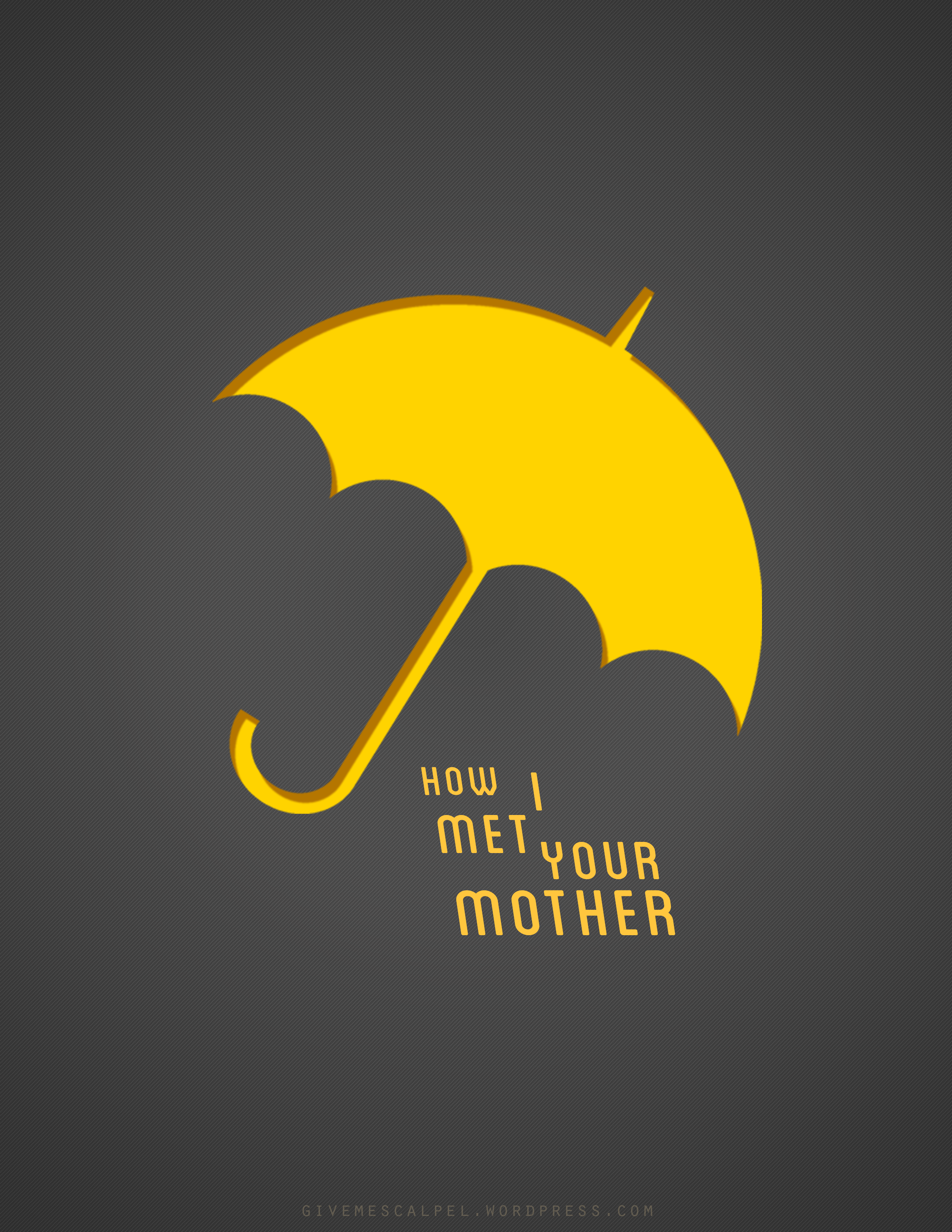 Yellow Umbrella How I Met Your Mother Poster HIMYM